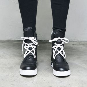 Star Lace Leather Hightop-Shoes 679
