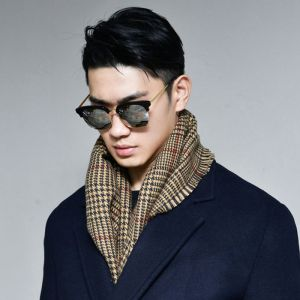 Handsome Houndstooth Check-Scarf 42