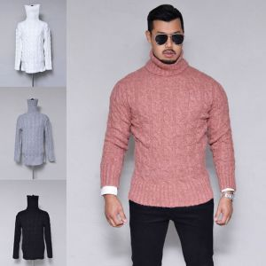 Thick Cable Slim Turtle-Knit 208