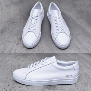 Classy White Leather Sneakers-Shoes 682