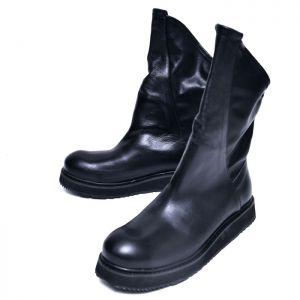 Diagonal Unbalance Cut Boots-Shoes 685
