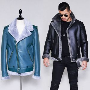 Shearling Belted Lambskin Rider-Leather 150