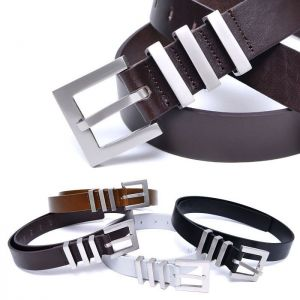 Triple Buckle Dress-Belt 186