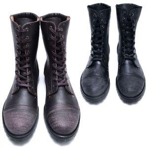 Vintage Crack Combat Boots-Shoes 687