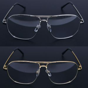 Retro Big Square Metal-Glasses 32