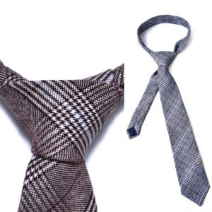 Glen Check Wool Dress-Tie 62