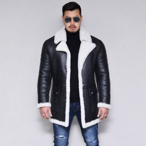 White Shearling Lambskin Half-Leather 153