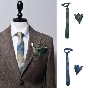 Camouflage Handkerchief Tie Set-Tie 64