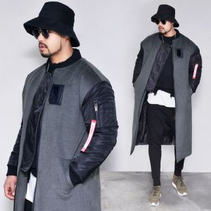 Swag Padding Long Bomber-Coat 154