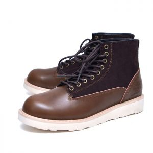 Suede Contrast Mid Boots-Shoes 692