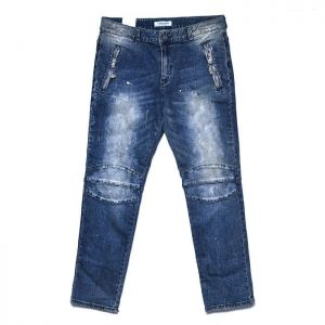 Hard Vintage Wash Zipper Slim Jeans-Sale 90