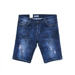 Oil Vintage Distressed Slim Shorts-Sale 93