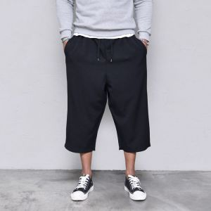 S/S Cropped Wide Banding-Pants 395