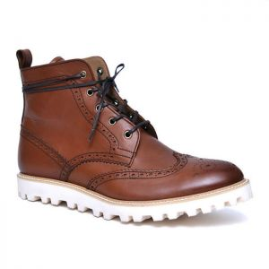 Classy Wingtip Kipskin Boots-Shoes 695