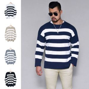 Loose Fit Bold Stripe Sweater-Knit 217
