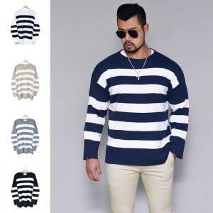 Loose Fit Bold Stripe Sweater-Knit 217