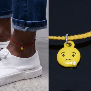 Smile Charm Rope Anklet-Anklet 14