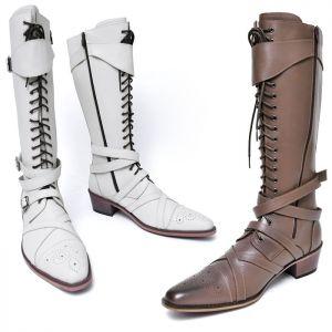 Long Gladiator Biker Boots-Shoes 702
