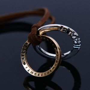 Dual Ring Pendant Long-Necklace 346