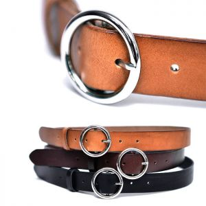 O Ring Vintage Leather-Belt 191