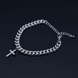 Steel Cross Chain Cuff-Bracelet 466