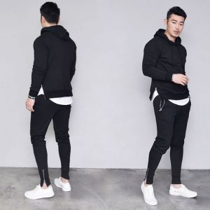 Zippered Hood & Jogger Set-Gymwear 41