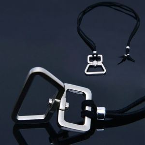 Moving Metal Charm Long-Necklace 347
