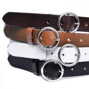 O Ring Slim Leather-Belt 195