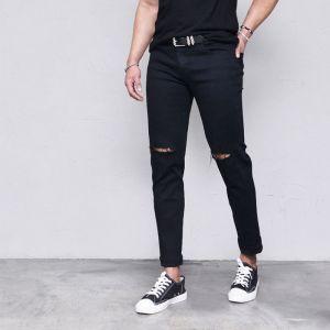 Super Stretchy Vintage Black-Jeans 457
