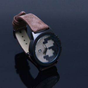 Abstract Figure Suede-Watch 80