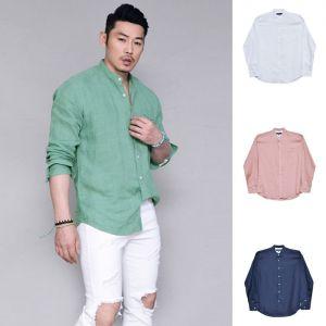 Linen Mandrine Daily Laid-back-Shirt 256