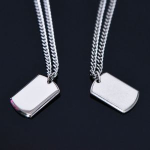 Simple Mini Square Charm-Necklace 355