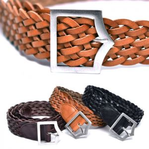 Lux Braided Leather-Belt 197