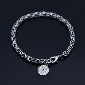 B Coin Metal Exotic Cuff-Bracelet 472