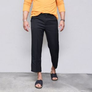 Handsome Fit Crop Slacks-Pants 445