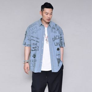 Funky Print Street Denim-Shirt 264