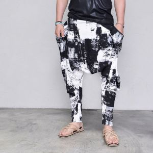 Artistic Paint Ray Pocket Baggy-Pants 450