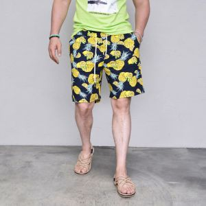 Tropical Pineapple Linen-Shorts 211