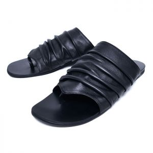 Rick Lux Lambskin Wrinkle Sandals-Shoes 743