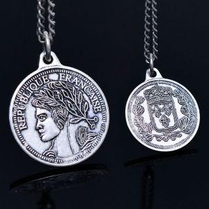 Francaise Coin Pendant-Necklace 361