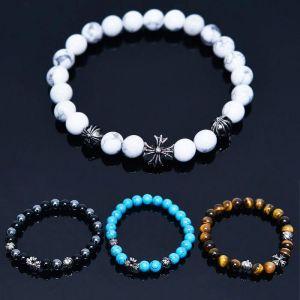 Gemstone Flower Beads-Bracelet 479