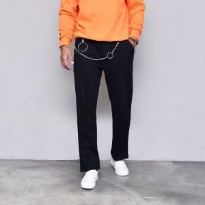 Street-edgy Chain Sweats-Sweatpants 400