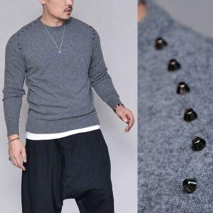 Cashmere Wool Stud Sweater-Knit 226