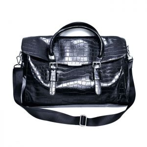 Sleek Crocodile Leather Cross-Bag 212