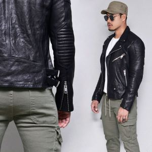 Lambskin Embo Power Biker-Leather 162
