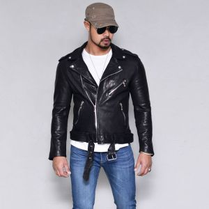 Vegetable Lambskin Slim Biker-Leather 165