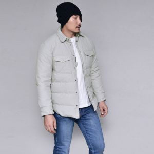 Duck Down Padding Parka Shirt-Parka 100