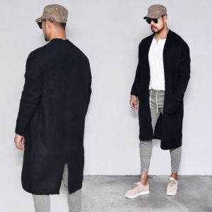 Thick Long Brushed Jacket-Cardigan 287