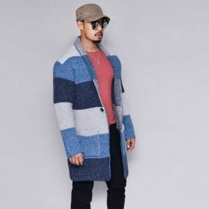 Thick Wool Relaxed Shawl-Cardigan 289