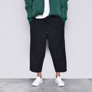 Wool Wide Crop Baggy-Pants 501
